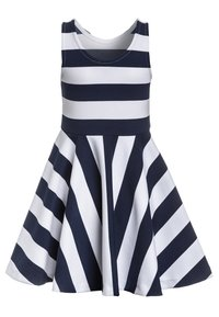 Polo Ralph Lauren - PONTE DRESS - Day dress - newport navy/white - 1