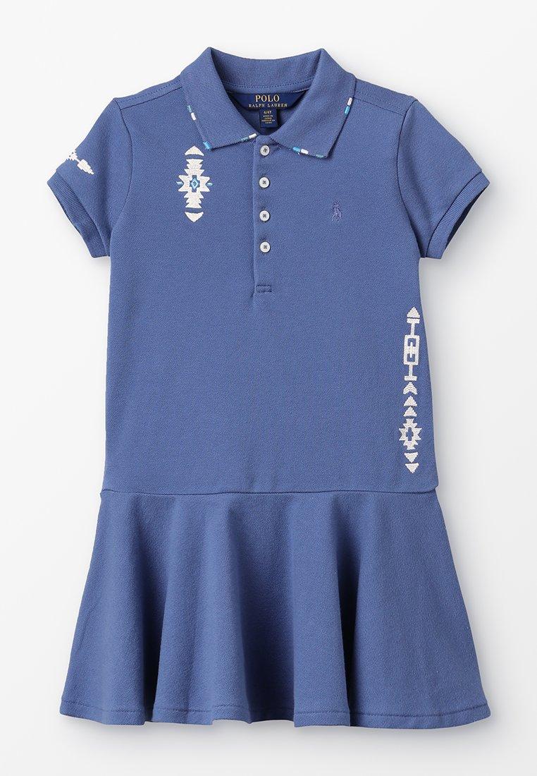 Polo Ralph Lauren - STRETCH DIARY DRESS - Vestido ligero - carson blue