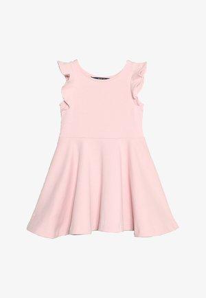 RUFFLE DRESS - Žerzejové šaty - hint of pink