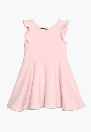 RUFFLE DRESS - Jersey dress - hint of pink