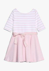 Polo Ralph Lauren - PONTE STRIPE - Žerzejové šaty - hint of pink/white - 0