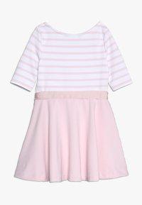 Polo Ralph Lauren - PONTE STRIPE - Žerzejové šaty - hint of pink/white - 1