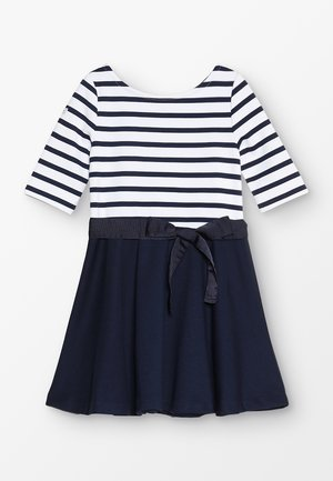 PONTE STRIPE - Jersey dress - french navy/white