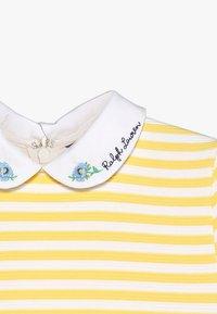Polo Ralph Lauren - STRUCTURED STRIPE - Denní šaty - signal yellow/white - 5
