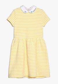 Polo Ralph Lauren - STRUCTURED STRIPE - Denní šaty - signal yellow/white - 0