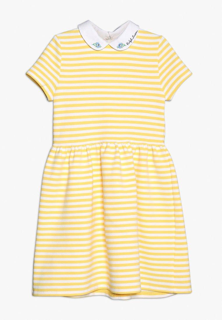 Polo Ralph Lauren - STRUCTURED STRIPE - Denní šaty - signal yellow/white