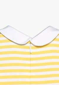 Polo Ralph Lauren - STRUCTURED STRIPE - Denní šaty - signal yellow/white - 3