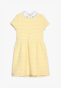 Polo Ralph Lauren - STRUCTURED STRIPE - Denní šaty - signal yellow/white - 4