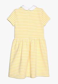 Polo Ralph Lauren - STRUCTURED STRIPE - Denní šaty - signal yellow/white - 1