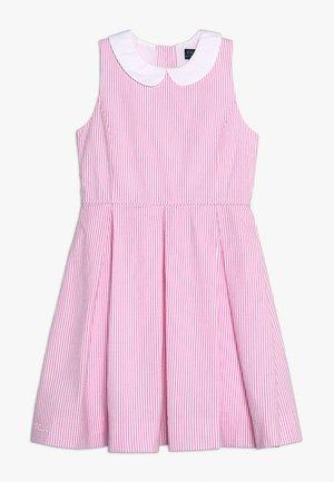 Robe d'été - baja pink/white
