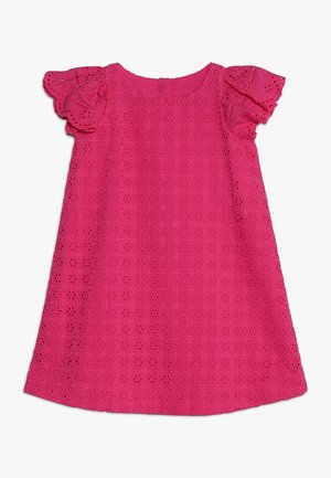 EYELET DRESS - Robe d'été - ultra pink