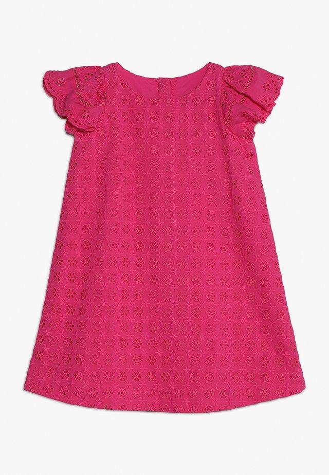 EYELET DRESS - Vestido informal - ultra pink