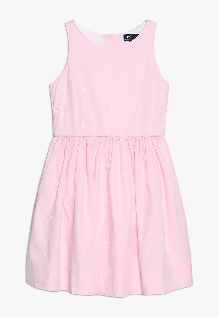 Polo Ralph Lauren - OXFORD SCHIFFLI  - Day dress - pink/white