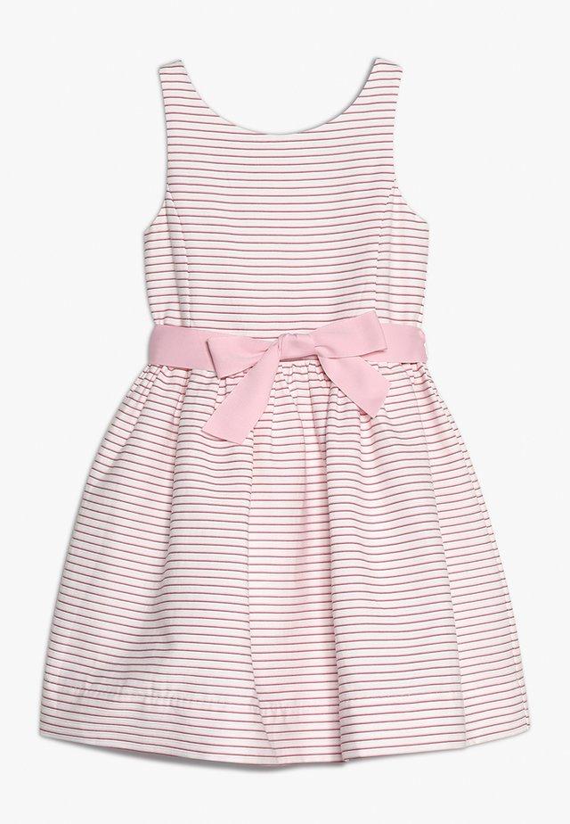 OTTOMAN STRIPE DRESS - Vestido de cóctel - pink/white