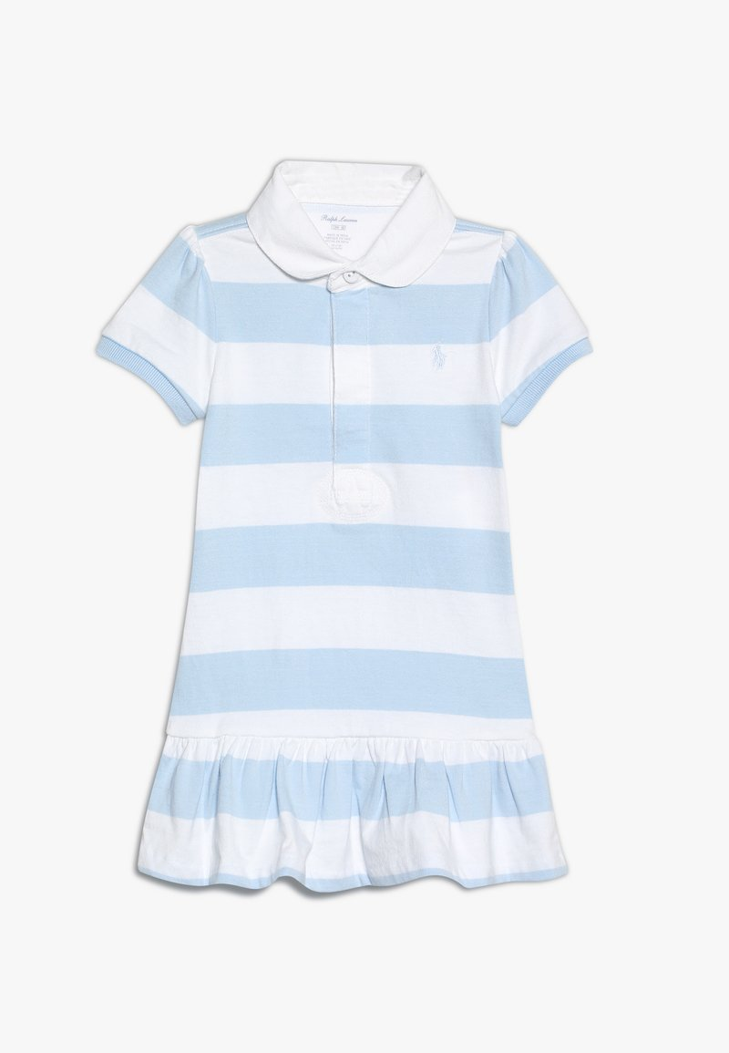 Polo Ralph Lauren - RUGBY DRESSES BABY - Jerseykleid - beryl blue/white