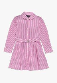 Polo Ralph Lauren - BENGAL DRESSES - Shirt dress - pink/white - 0