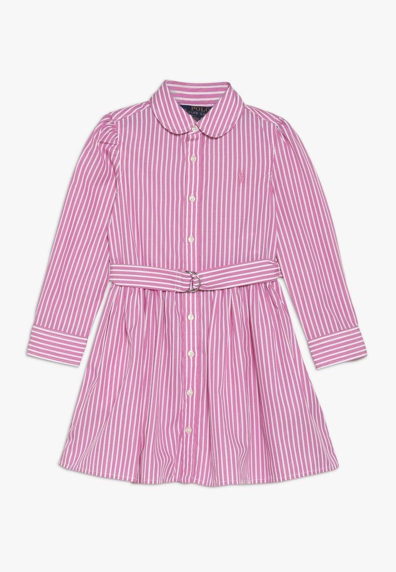 Polo Ralph Lauren - BENGAL DRESSES - Shirt dress - pink/white