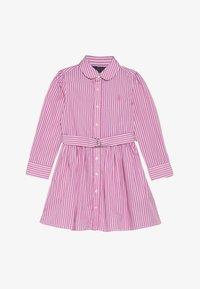 Polo Ralph Lauren - BENGAL DRESSES - Shirt dress - pink/white - 3