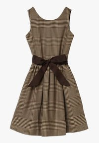 Polo Ralph Lauren - GLEN PLAID DRESSES - Freizeitkleid - brown/multi - 0