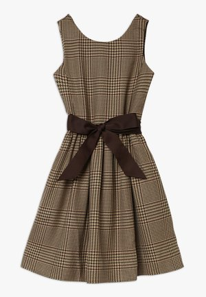 GLEN PLAID DRESSES - Korte jurk - brown/multi