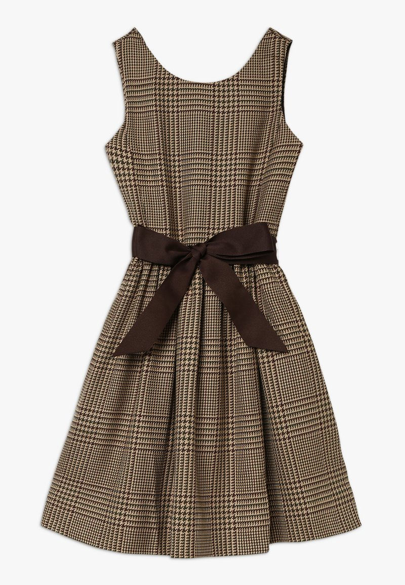 Polo Ralph Lauren - GLEN PLAID DRESSES - Freizeitkleid - brown/multi