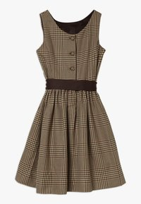 Polo Ralph Lauren - GLEN PLAID DRESSES - Freizeitkleid - brown/multi - 1
