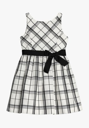 PLAID TAFFET DRESSES - Cocktailkleid/festliches Kleid - cream/black