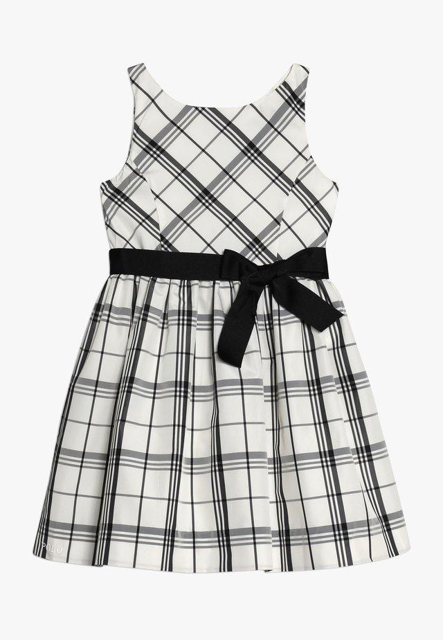 PLAID TAFFET DRESSES - Vestido de cóctel - cream/black