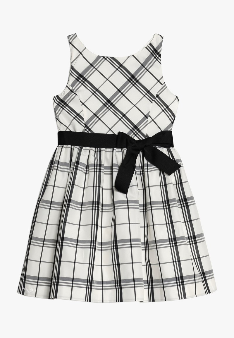 Polo Ralph Lauren - PLAID TAFFET DRESSES - Cocktail dress / Party dress - cream/black