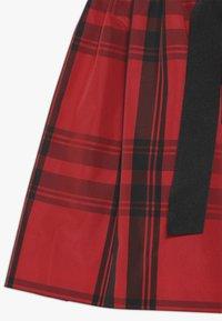 Polo Ralph Lauren - PLAID TAFFET DRESSES - Robe de soirée - red/black - 2