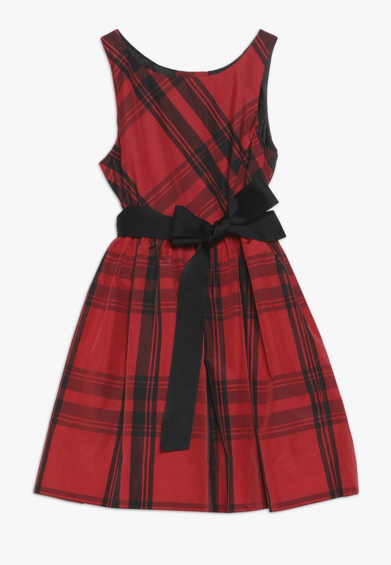Polo Ralph Lauren - PLAID TAFFET DRESSES - Cocktailkleid/festliches Kleid - red/black