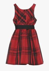 Polo Ralph Lauren - PLAID TAFFET DRESSES - Cocktailkleid/festliches Kleid - red/black - 1