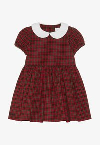 Polo Ralph Lauren - PLAID DRESS - Vestito elegante - red/black - 4