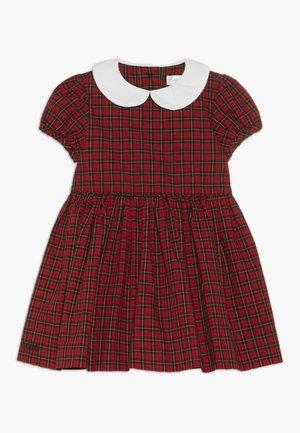 PLAID DRESS - Juhlamekko - red/black