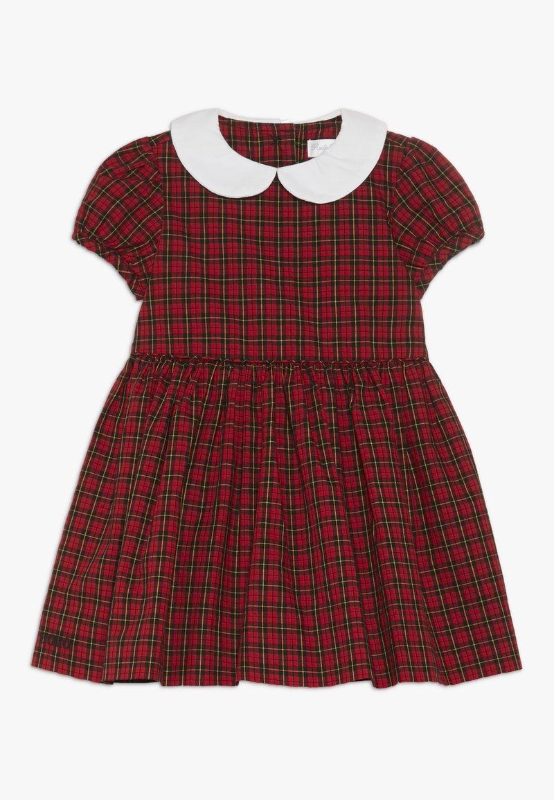 Polo Ralph Lauren - PLAID DRESS - Vestito elegante - red/black