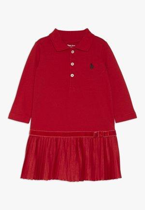 POLO DRESS - Freizeitkleid - red