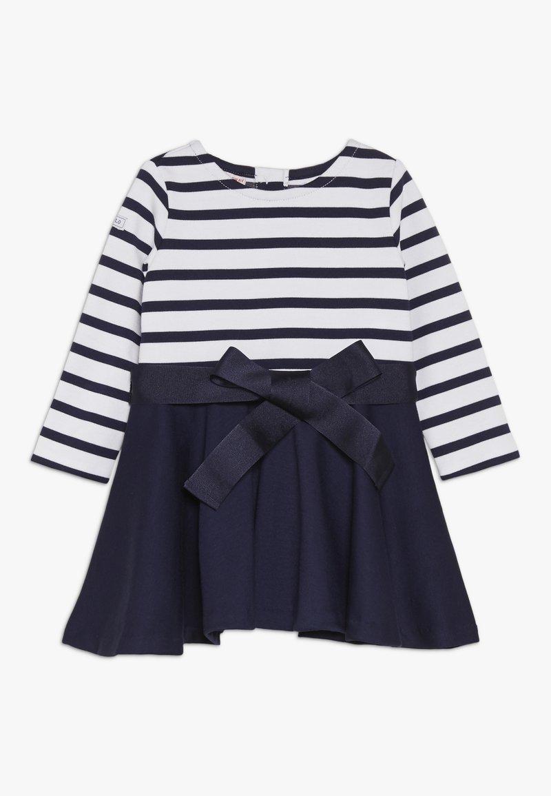 Polo Ralph Lauren - PONTE STRIPE - Jerseykleid - french navy/white