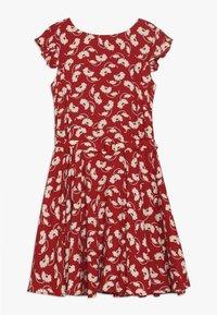 Polo Ralph Lauren - FLUTTER  DRESS - Korte jurk - dark red - 0