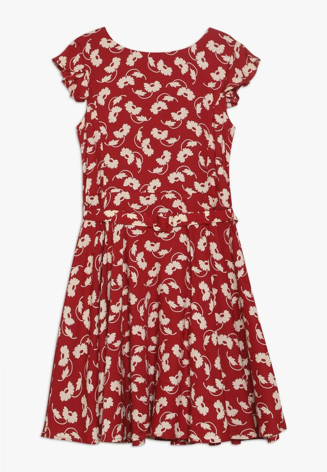 FLUTTER  DRESS - Day dress - dark red