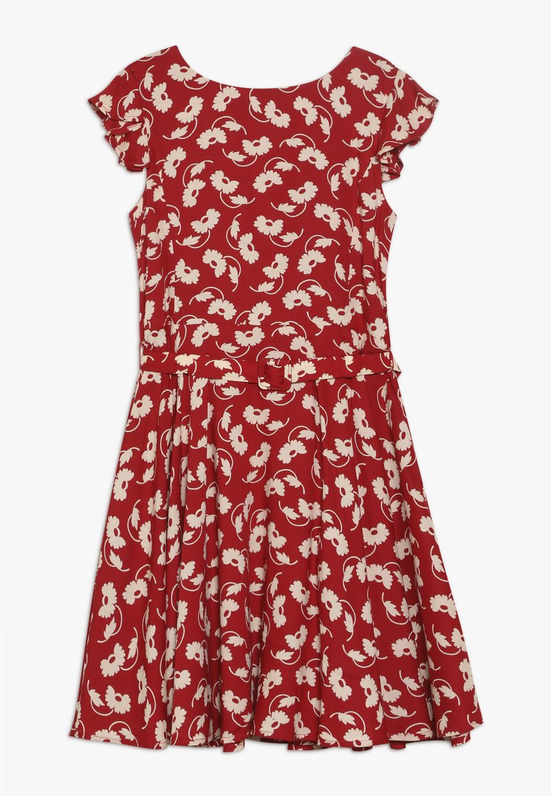 Polo Ralph Lauren - FLUTTER  DRESS - Korte jurk - dark red