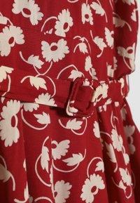 Polo Ralph Lauren - FLUTTER  DRESS - Korte jurk - dark red - 3
