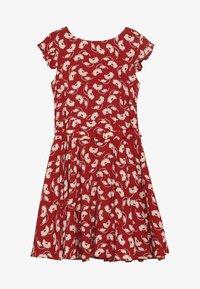 Polo Ralph Lauren - FLUTTER  DRESS - Korte jurk - dark red - 2