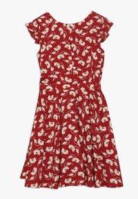 Polo Ralph Lauren - FLUTTER  DRESS - Korte jurk - dark red - 1