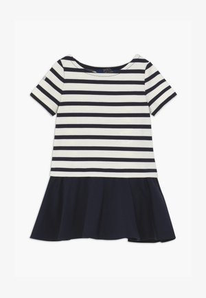 PONTE DRESS - Jersey dress - hunter navy/clubhouse cream