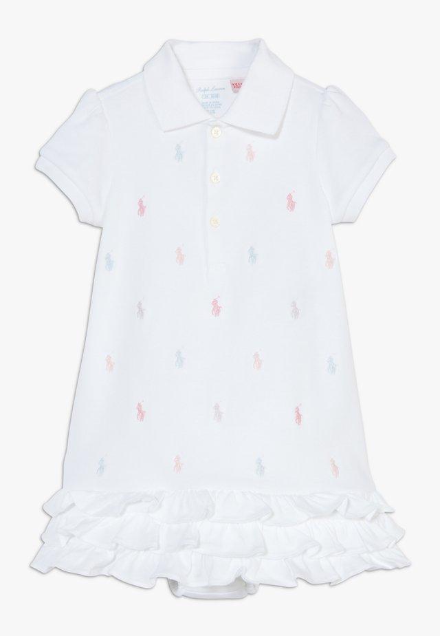 SCHIFFLI DRESSES - Jerseyklänning - white