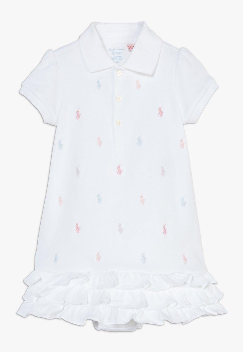 Polo Ralph Lauren - SCHIFFLI DRESSES - Vestido ligero - white