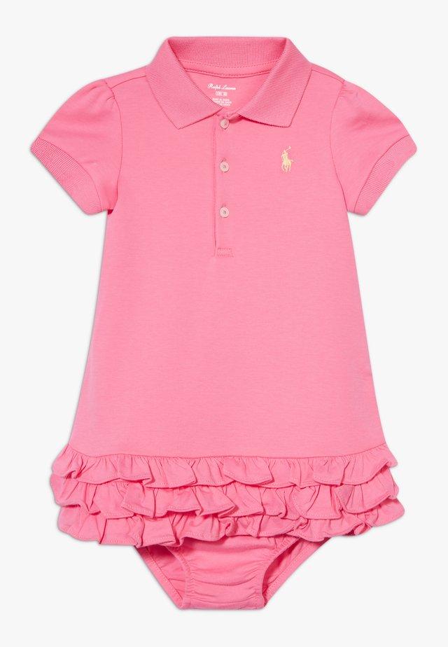 SOLID RUFFLE DRESSES SET - Jerseyklänning - lauren pink