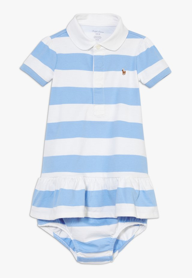 RUGBY STRIPE DRESSES  - Jerseyjurk - chatham blue multi