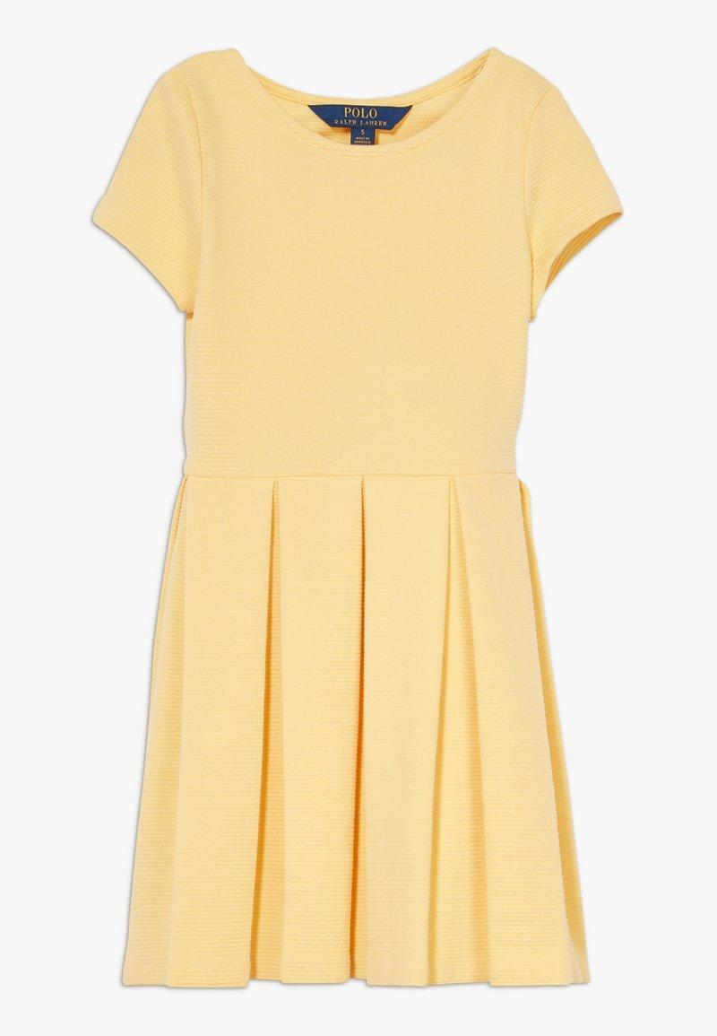 Polo Ralph Lauren - SOLID DRESSES - Vestito di maglina - empire yellow
