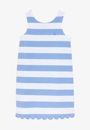 PONTE - Jersey dress - harbor island blue/white
